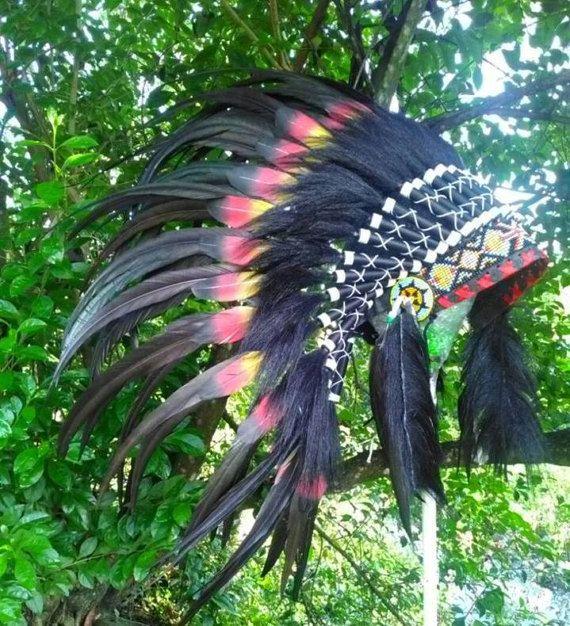 Double FeathersKids Native American inspired HeaddressKids