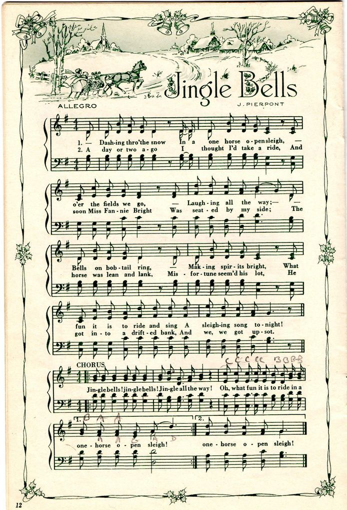 Make your holiday decorating and gift giving easy with these free printable vintage Christmas sheet music pages!