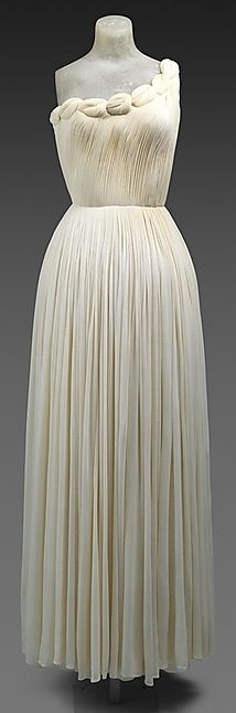 Oh Good God! | Madame Grès Dress - 1958 - by Madame Grès (Alix Barton) (French, 1903-1993) - Silk - @Mlle