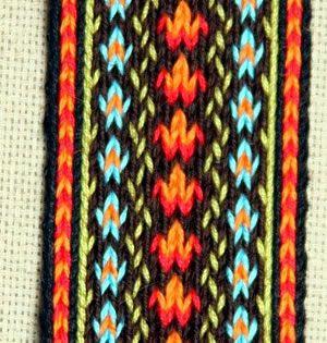 Simple color scheme for Tablet weaving