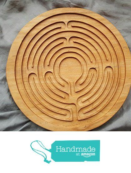 Finger Labyrinth, Cherry wood labyrinth, marble maze, wooden labyrinth, hand eye coordination, zen board, meditation assistant, finger maze from SensoryPlay https://www.amazon.com/dp/B01FQBGQOQ/ref=hnd_sw_r_pi_dp_Zl6txbAMY7JD4 #handmadeatamazon