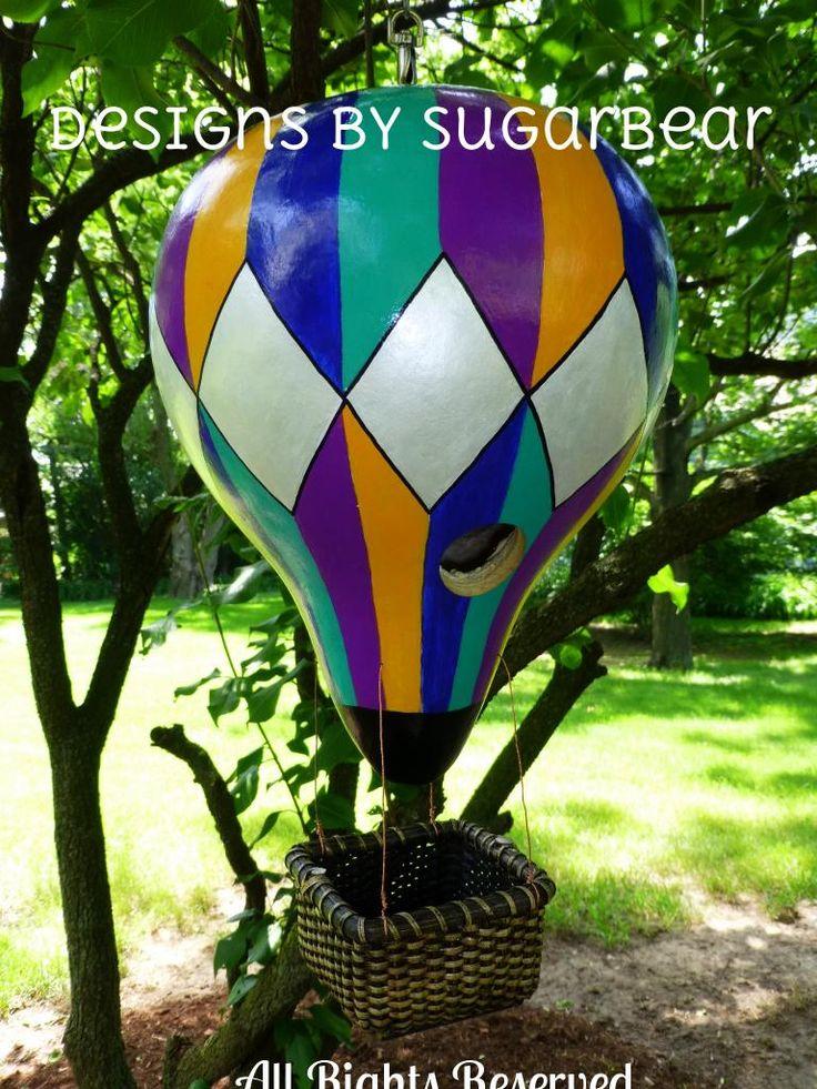 Gourd Art Patterns | Hot Air Balloon Birdhouse Gourd Art Original Design from Designs by ...