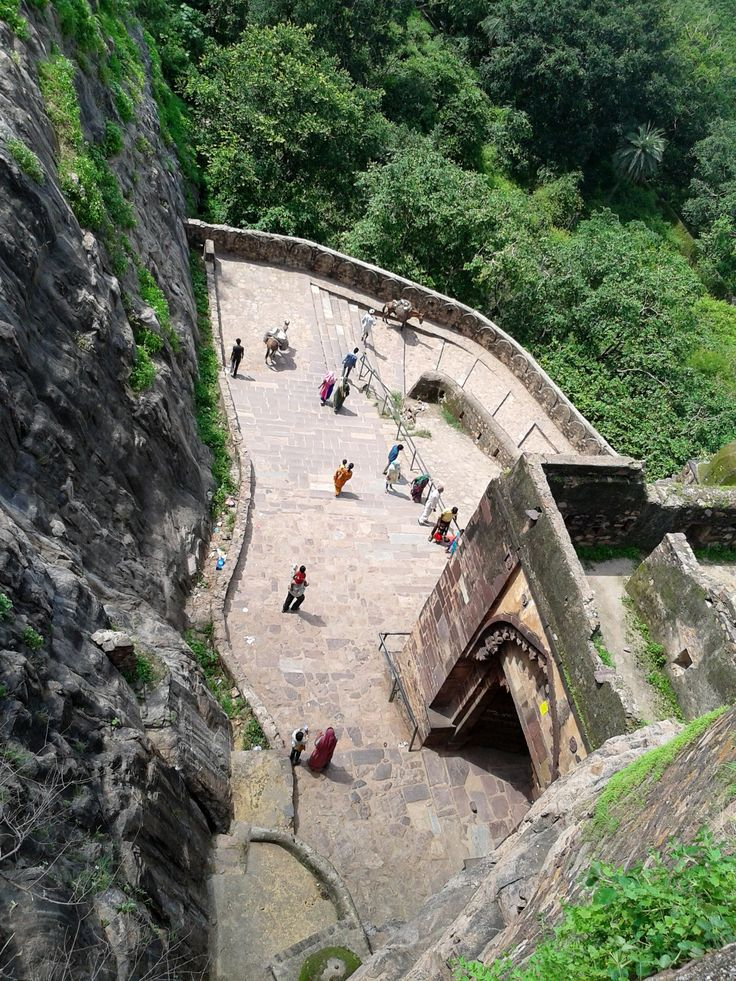 """A stunning view of the #Ranthambore Fort  This is third gate of the Fort known as """"Ganesh Pole"""" All gate had been made at an angle of 90 degrees."""