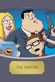 American Dad! (2005) is another very funny prime time cartoon from Seth MacFarlane. It is about a CIA agent, his family, and a couple houseguests. One is the grey alien Roger who likes to pretend to be different people, and the other is man whose brain was implanted in a fish.