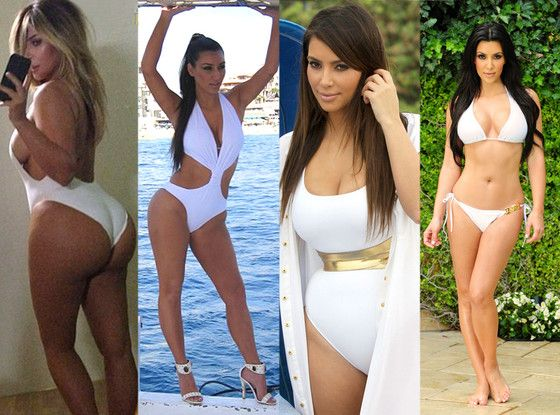 Fact: Kim Kardashian loves a white swimsuit! Which of these sexy looks is your fave?!