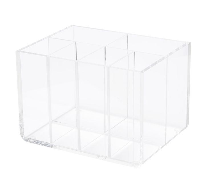 Desk tidy six compartments acrylic