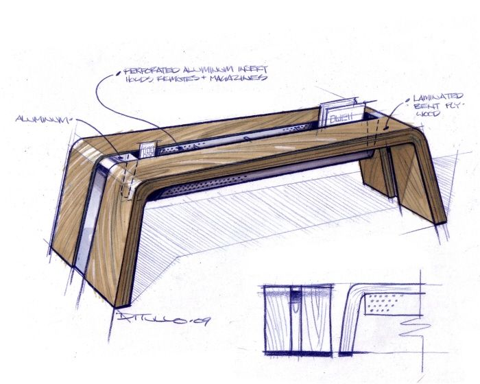 furniture by Michael DiTullo at Coroflot.com #id #industrial #design #product #sketch