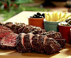 Slow-Roasted Filet of Beef and Basil Parmesan Mayonnaise Recipe : Ina Garten : Food Network
