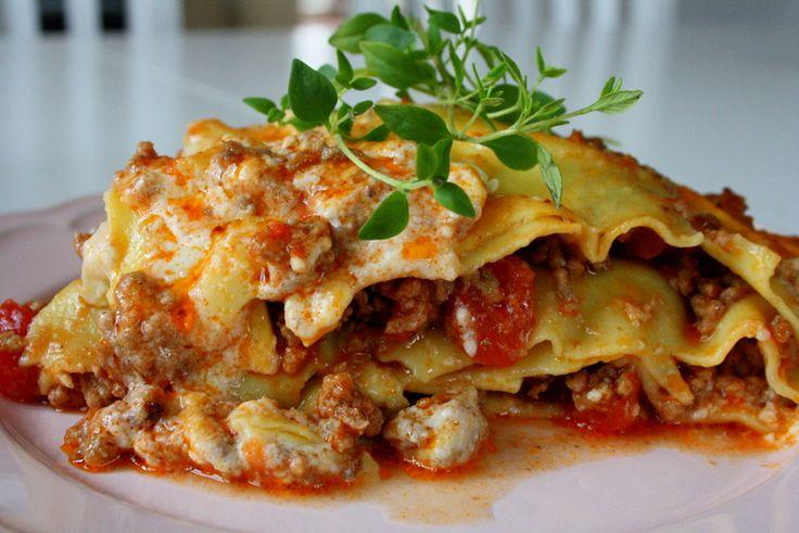Lasagne med mozzarella