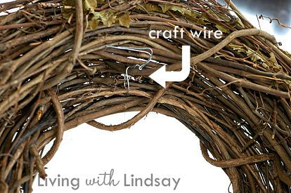 diy interchangeable wreath, christmas decorations, crafts, seasonal holiday decor, wreaths, Start with two grapevine wreaths of different sizes Wire them together with craft wire so that the smaller one is inside the larger one