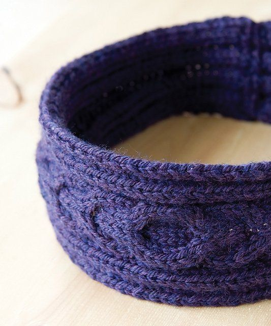 Quick and easy cabled headband (or earwarmer) in Idiots Guide Knitting ...