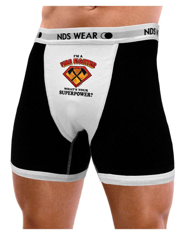 TooLoud Fire Fighter - Superpower Mens NDS Wear Boxer Brief Underwear