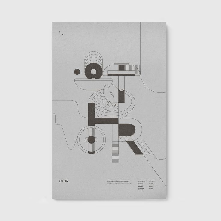 Illustration and poster design by New York-based studio Franklyn for innovative product design company OTHR
