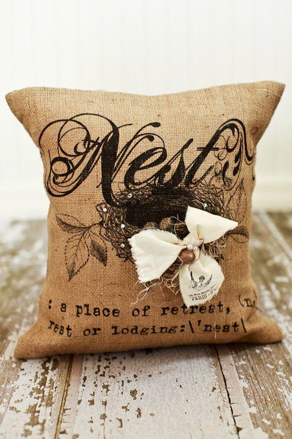 NEST- Burlap Pillow Cover