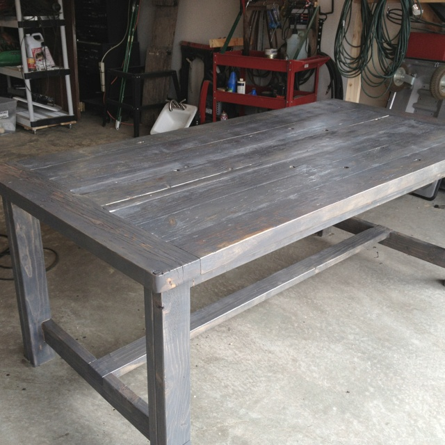 Our new outdoor table