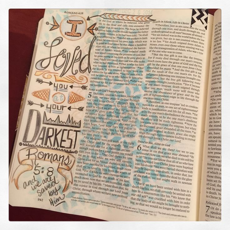 bible art or Journaling bible entry for the book of Romans for illustrated faith (#illustratedfaith) on Instagram check out the rest under Fischtales on instagram