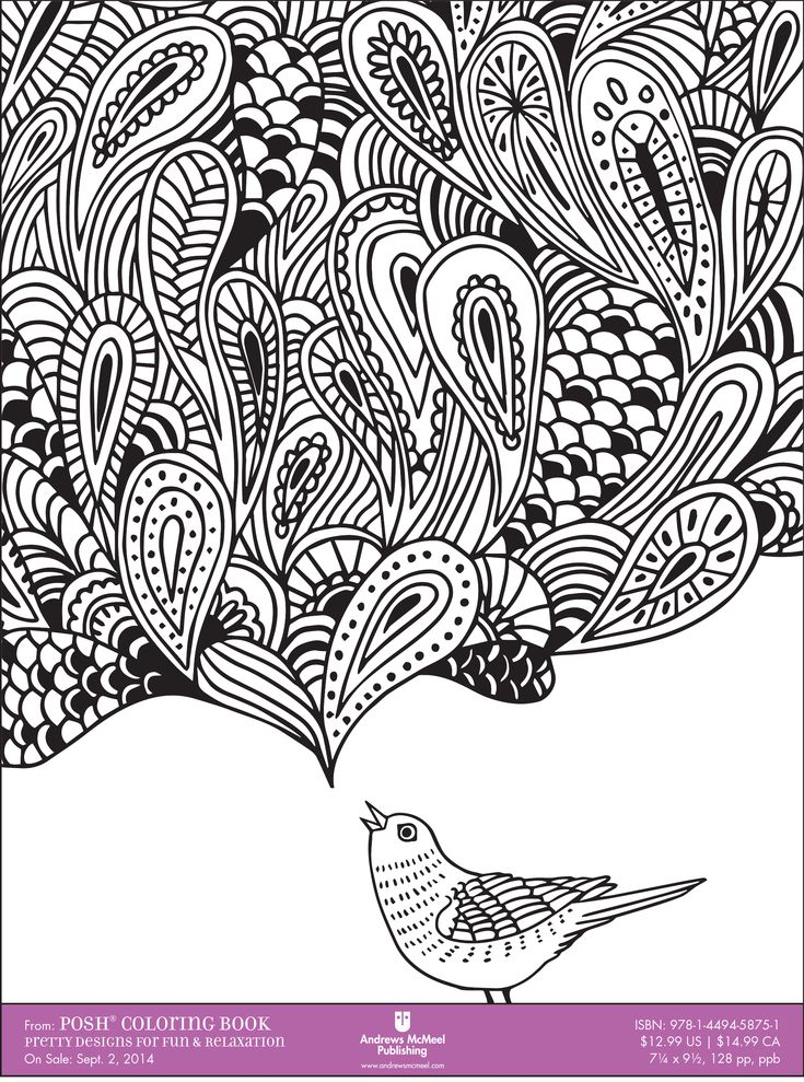 Coloring Books For Relaxation : Coloring books for adults downloadable sample pages