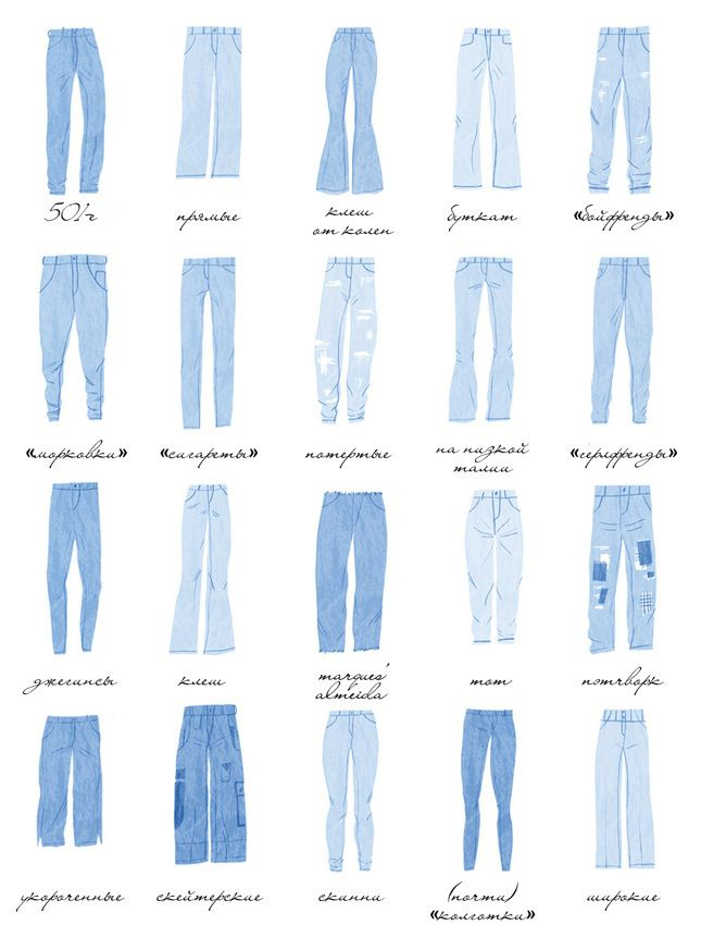 Как выбрать джинсы по фигуре: модели для широких бедер, большой попы, коротких ног | Glamour | Glamour.ru