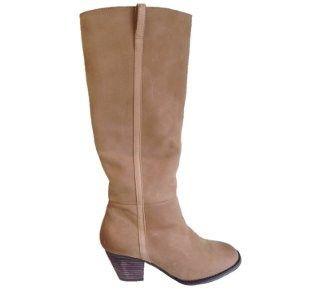 Faye Long Boot in Tan Leather by Siren