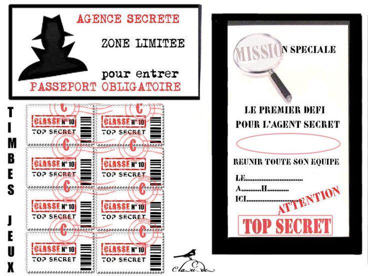 Thème agent secret anniversaire