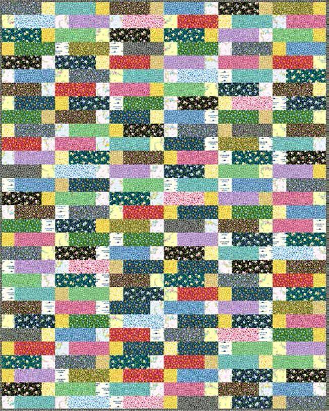 Little House on the Prairie - Chimney Bricks Free Quilt Pattern