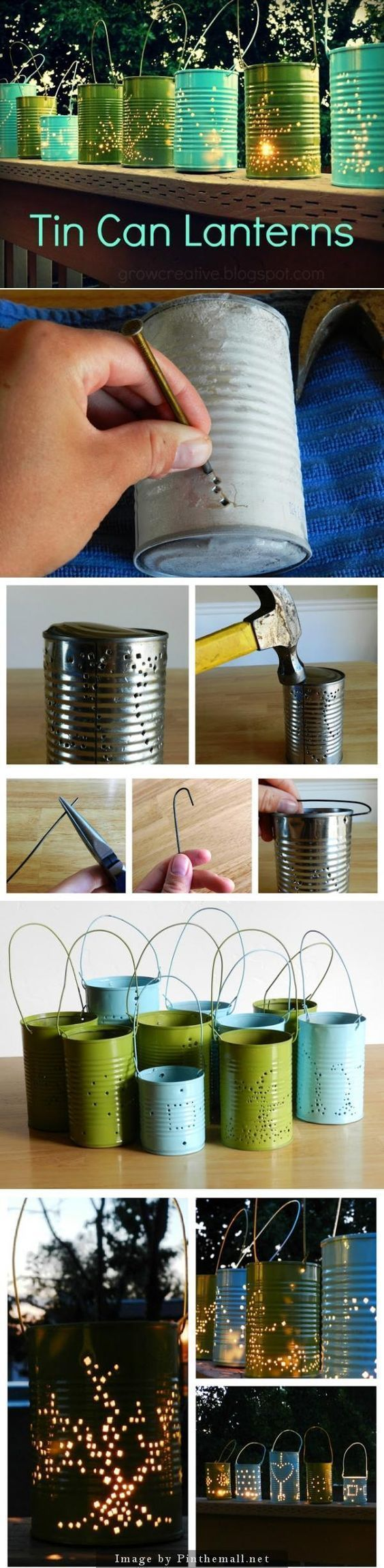 nice DIY Tin Can Lanterns Craft... by http://www.danazhomedecor.top/diy-crafts-home/diy-tin-can-lanterns-craft/