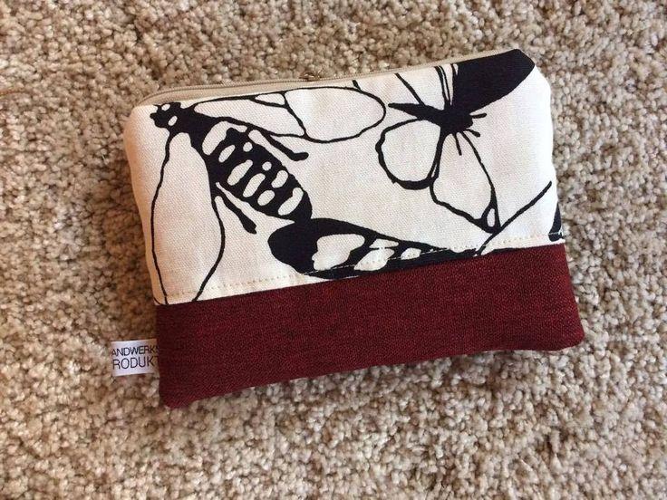 Beauty Case, Kosmetiktasche 18x13 rot schwarz grau Käfer Insekten kleine Tasche  | eBay