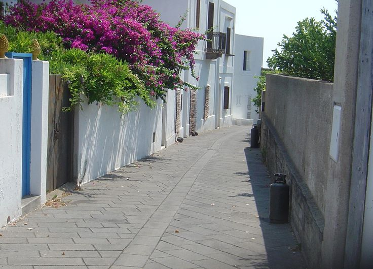 Lane to the beach, Stromboli, Aolian Islands, Sicily