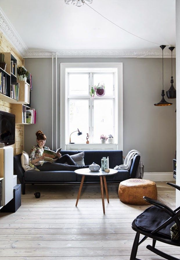 Bohemian Danish Home with Fun Details - NordicDesign this gray
