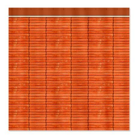 Orange Wooden Slat Blinds Shower Curtain