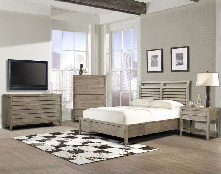 corliss landing bedroom set queen bed dresser mirror for a coastal vibe by - Louvered Bedroom Decor