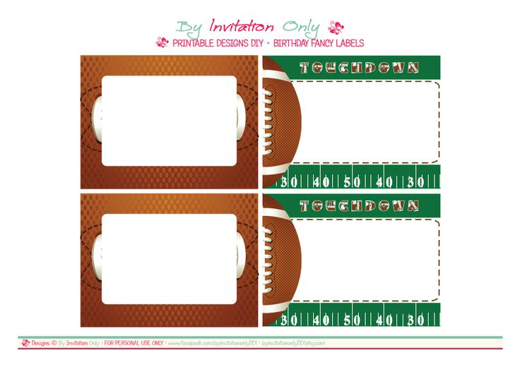 free-football-party-printables