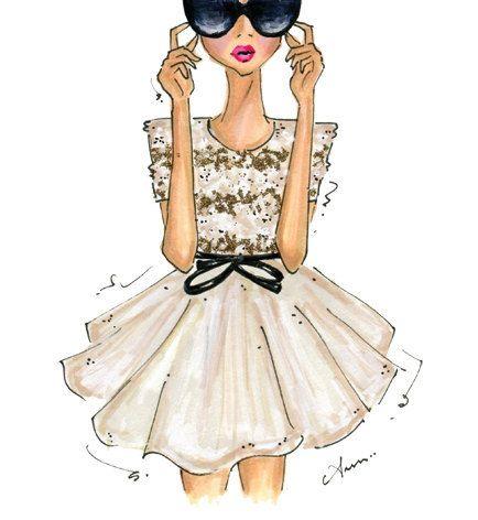 Fashion Illustration Print Jason Wu Spring 2012 van anumt op Etsy, $25.00 // Anum Tariq
