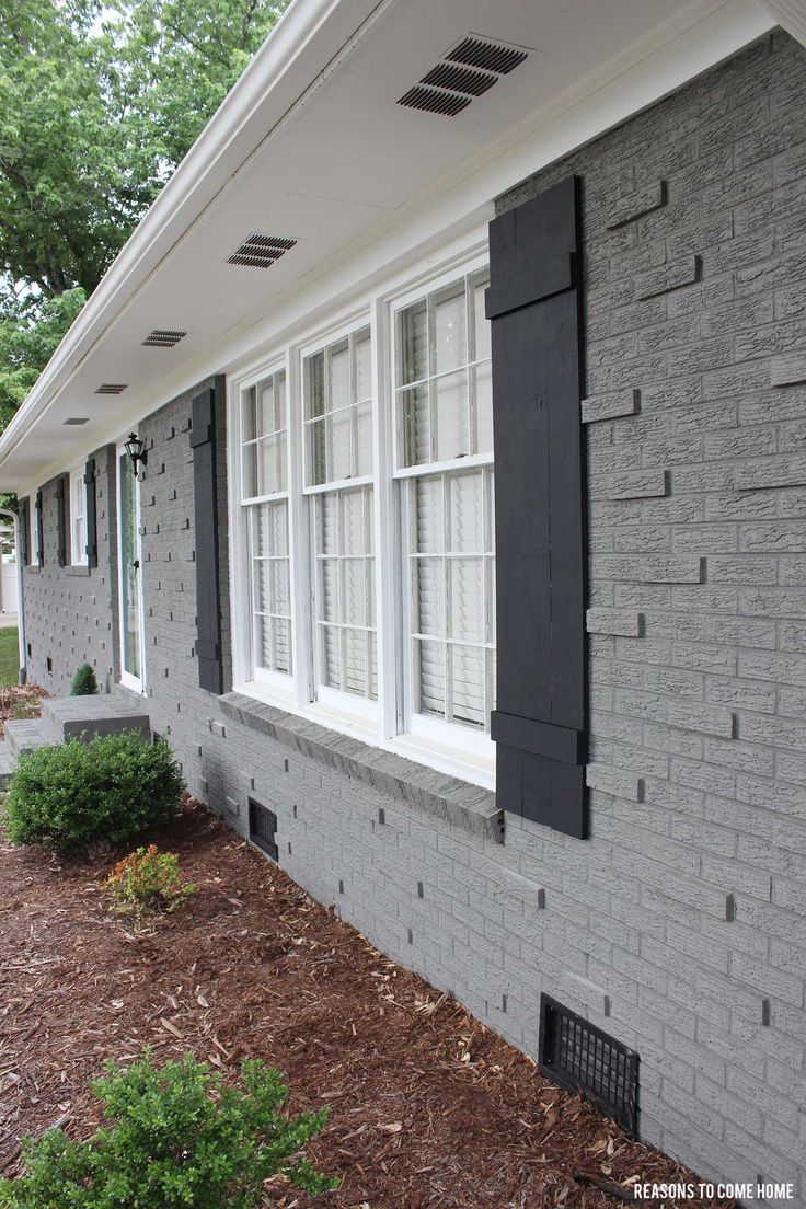 25 best ideas about painted brick exteriors on pinterest painted brick houses painted brick - Painting over brick exterior photos ...