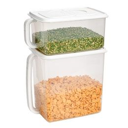 (Flour/Sugar, 5.1 qt.) Handled Food Storage Container $6.99 at containerstore.com