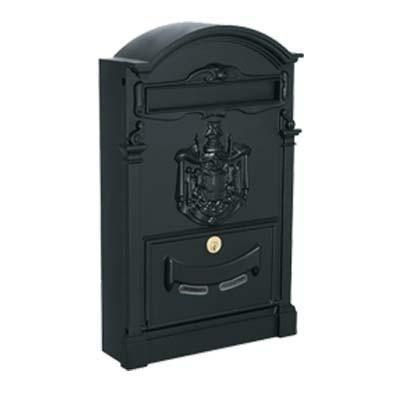 Cassetta postale Residence Alubox nera, old style, classica ed elegante.