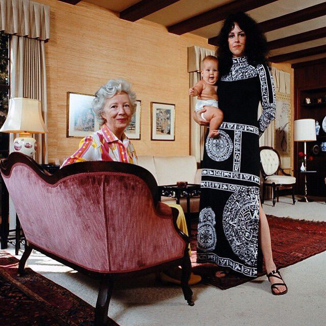 Grace Slick with her mother and her daughter, China.