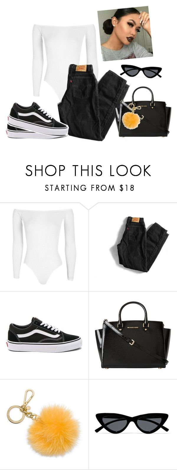 """""""I start fashion trends..."""" by aerielle24 ❤ liked on Polyvore featuring Boohoo, Levi's, Vans, MICHAEL Michael Kors, Michael Kors and Le Specs"""