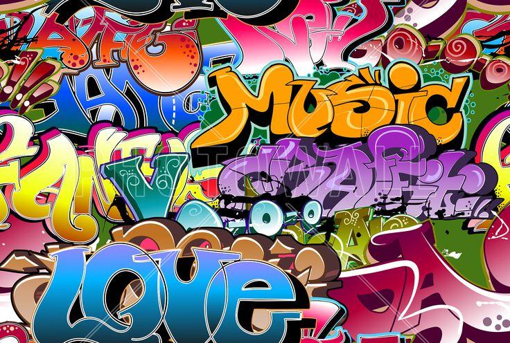 Music Love Graffiti - Fotobehang & Behang - Photowall