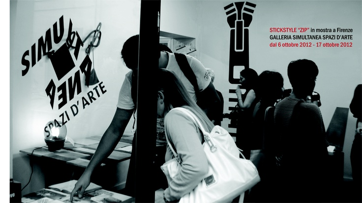 #Wallsticker #ZIP: exhibition in Florence (October 6th-17th 2012)
