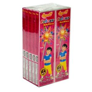 Buy Diwali Crackers from Ayyan Fireworks Exclusive Online store in Bangalore. Free Shipping directly from Sivakasi Factory. Logon to AyyanOnline.com http://www.ayyanonline.com/dazzling-light/sparklers/7cm-coloured-sparklers
