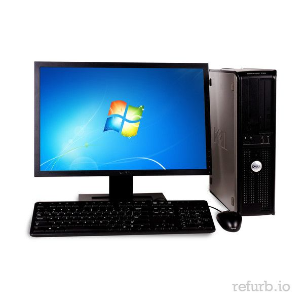 "*Manufacturer: DELL *Model #: OPTIPLEX GX760 *Form Factor: SFF *CPU: INTEL CORE 2 DUO 2.4Ghz *Memory: 2GB *Memory Type: DDR2 *HDD: 160GB *Hard Drive Type: SATA *Optical: DVD *Monitor: DELL 20"" *O/S: WINDOWS 7 HOME PREMIUM (W7HP), MICROSOFT AUTHORIZED REFURBISHER (MAR) *Keyboard & Mouse: YES"