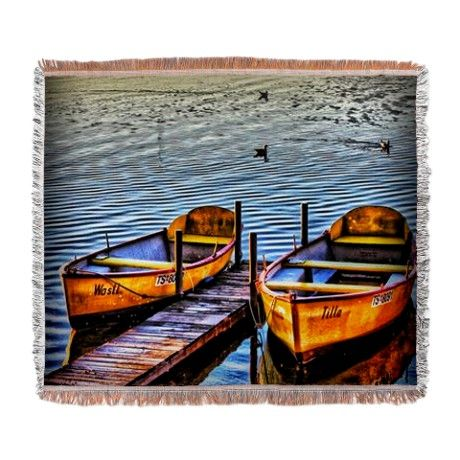 Twin Boats Woven Blanket by AngelEowyn. $69.99