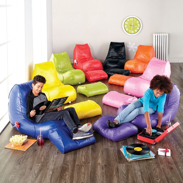 Our Kids Would Love These Cool Chairs And I All The Colours Popsicle Vinyl Beanbag Lounger With Footrest