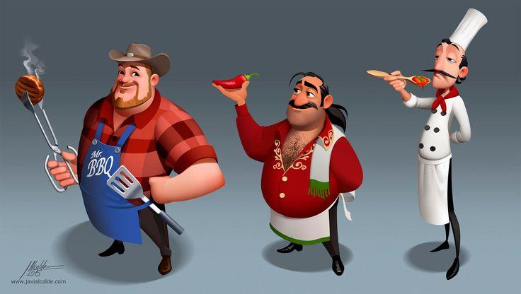 World Chef Characters by javieralcalde.deviantart.com on @DeviantArt