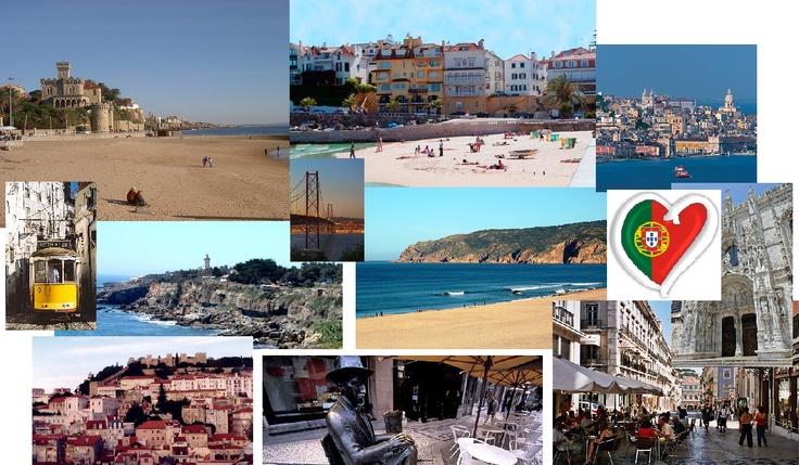 "Like a group of tiles that illustrate places in my life! Cascais and Lisboa!   Em jeito de ""Mosaico"" - os lugares da minha vida!"