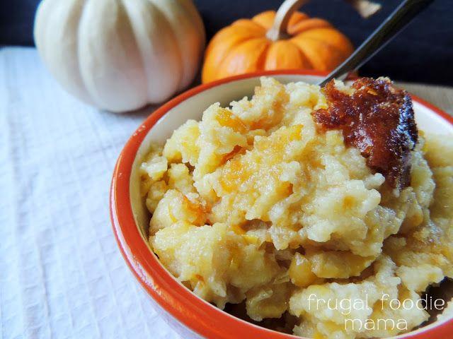 Copycat City BBQ Crock Pot Corn Pudding via thefrugalfoodiemama.com #sidedish #slowcooker