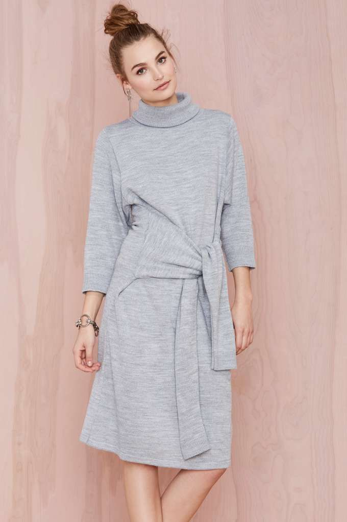 Knot Me Sweater Dress | Shop What's New at Nasty Gal