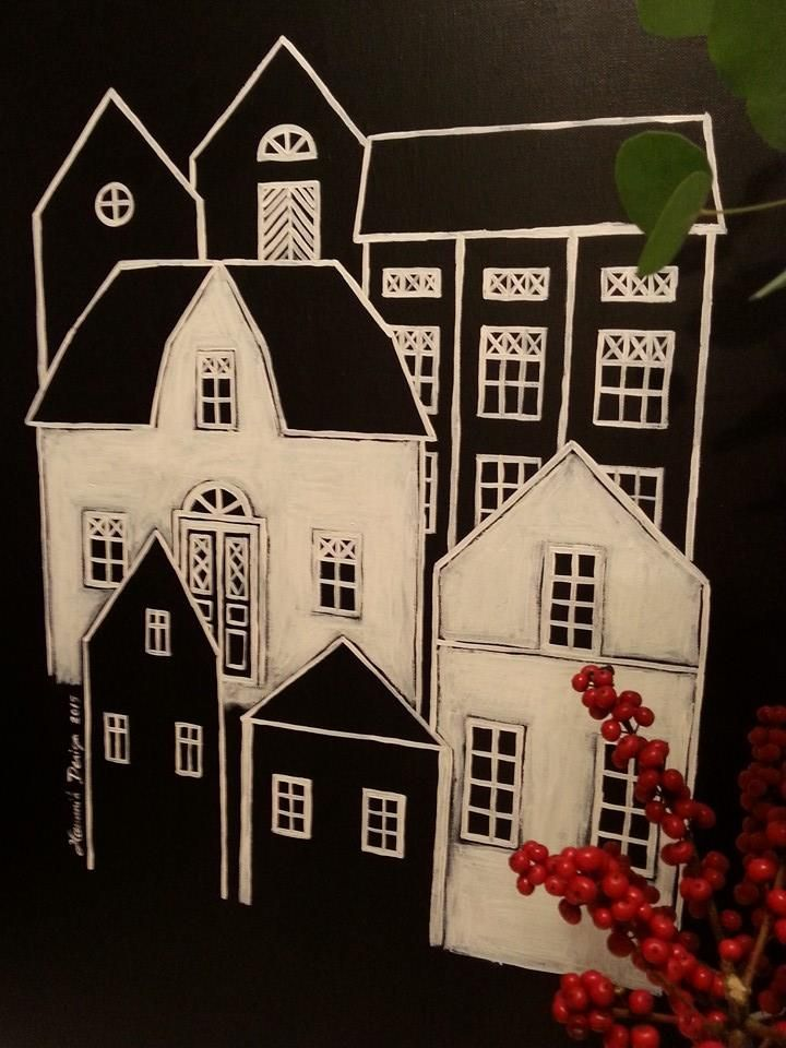 Houses. Painting by Hammi´s Design.