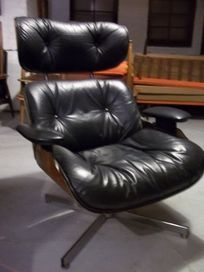 Mid Century Selig Eames Leather Lounge Chair